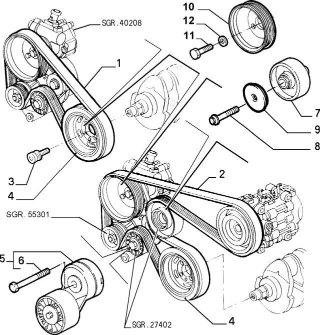 Fiat 71753673 Pasek wielorowkowy Alfa Romeo 145 2.0 ts